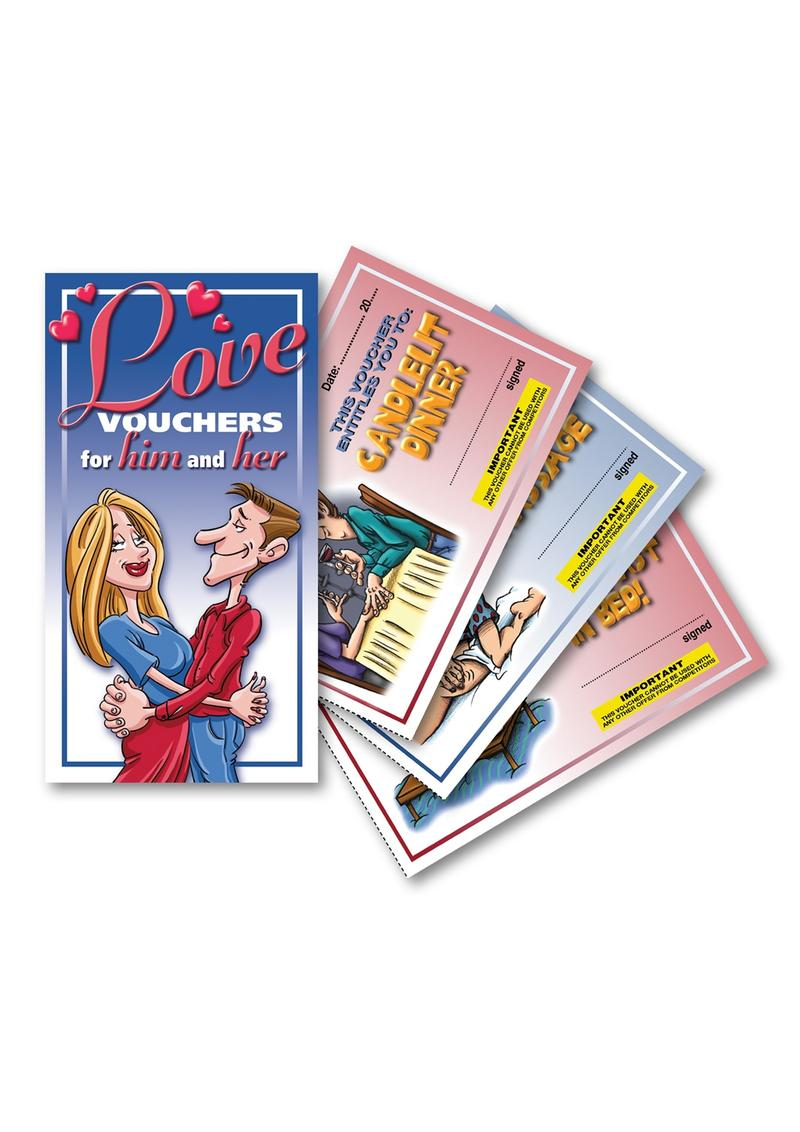 Love Vouchers For Him And Her Game Novelty