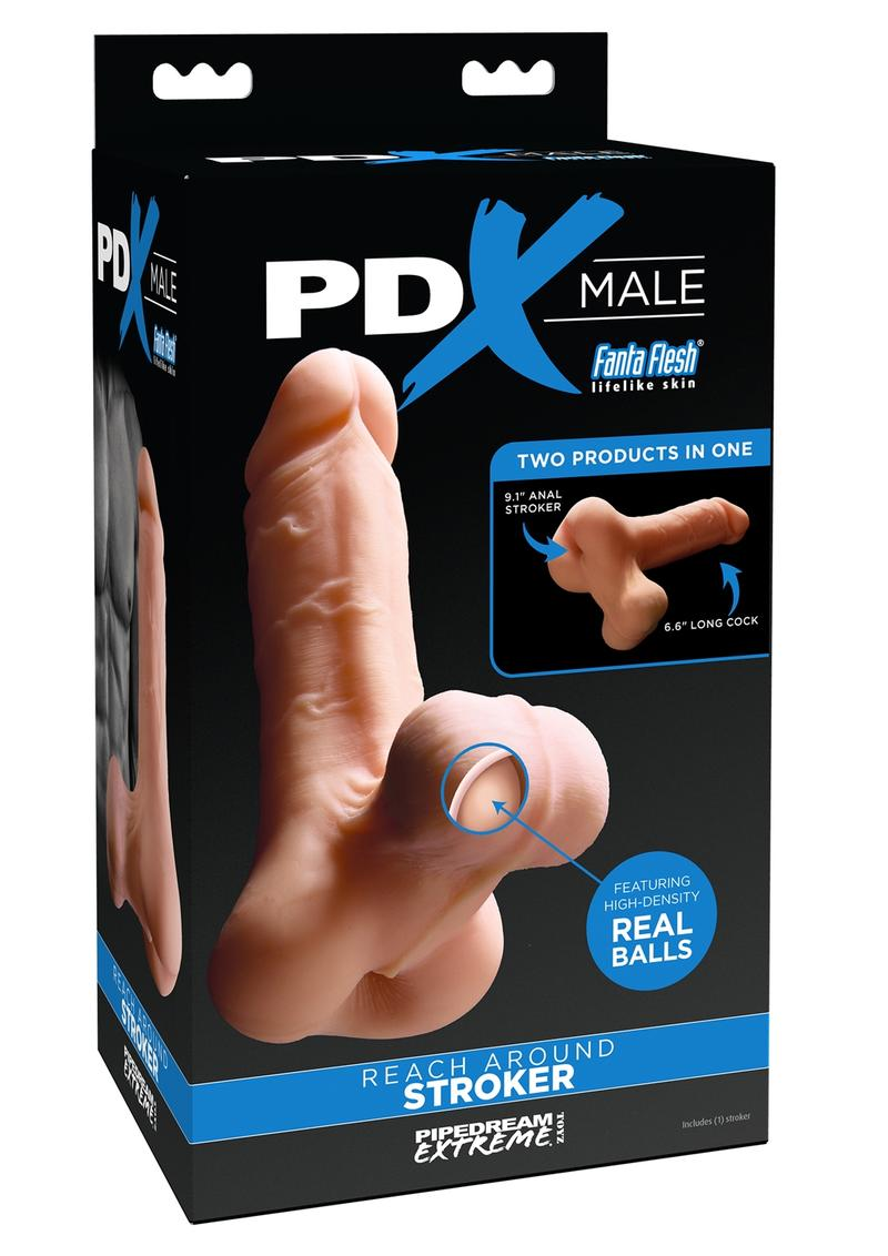 PDX Male Reach Around Stroker Masturbator Realistic Dong Flesh