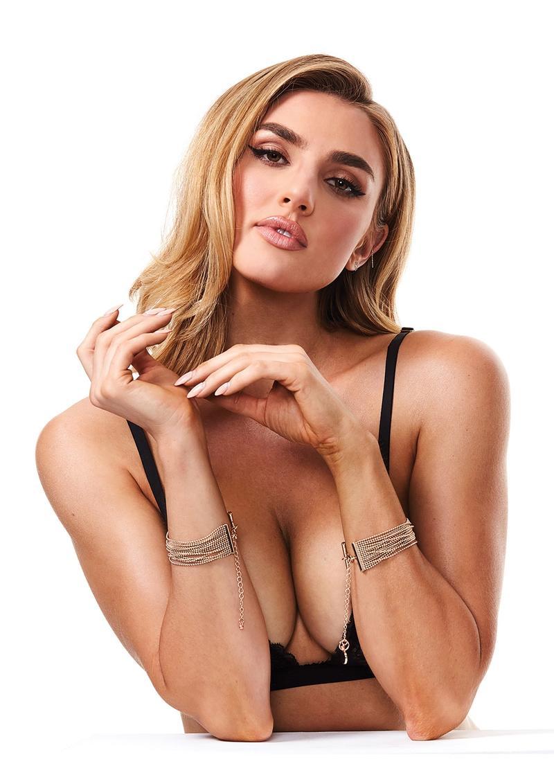 Secret Kisses Luxe Gold Bracelet Cuffs
