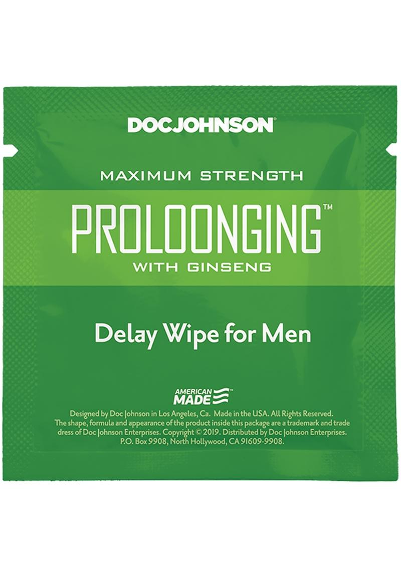 Proloonging With Ginseng Delay Wipes 10ct Pack