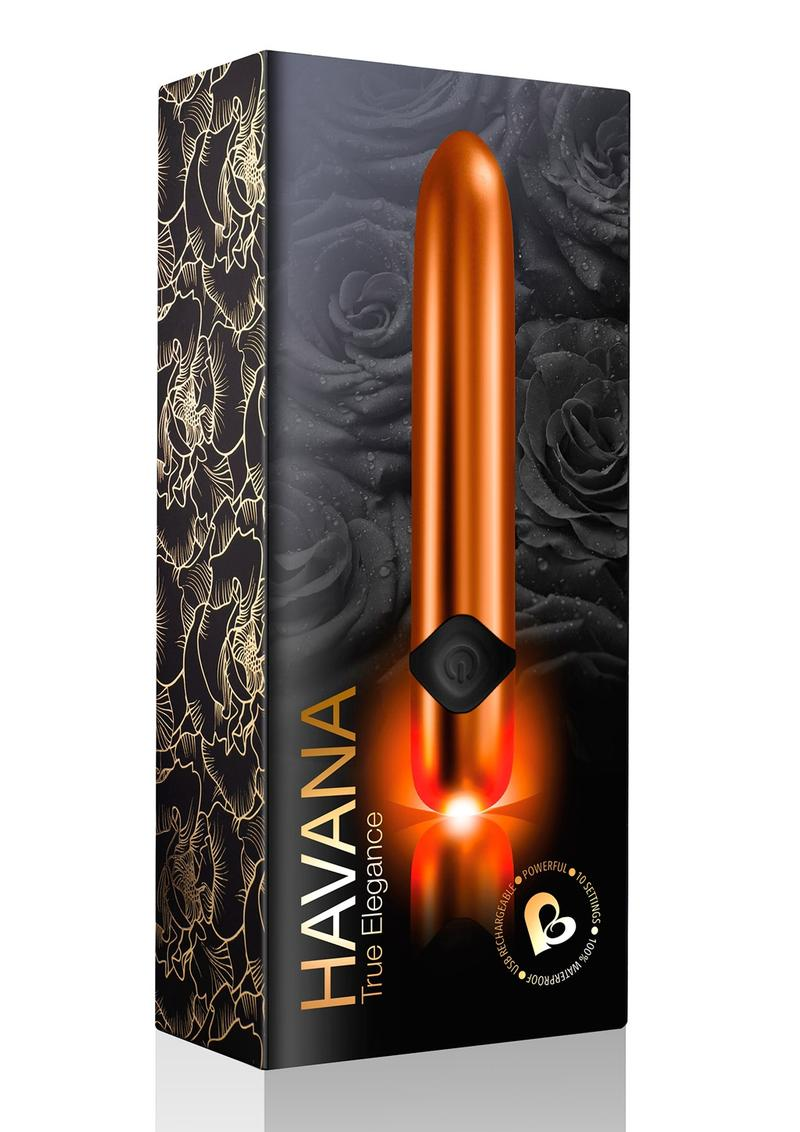 Havana True Elegance Bullet Waterproof Rechargeable Orange