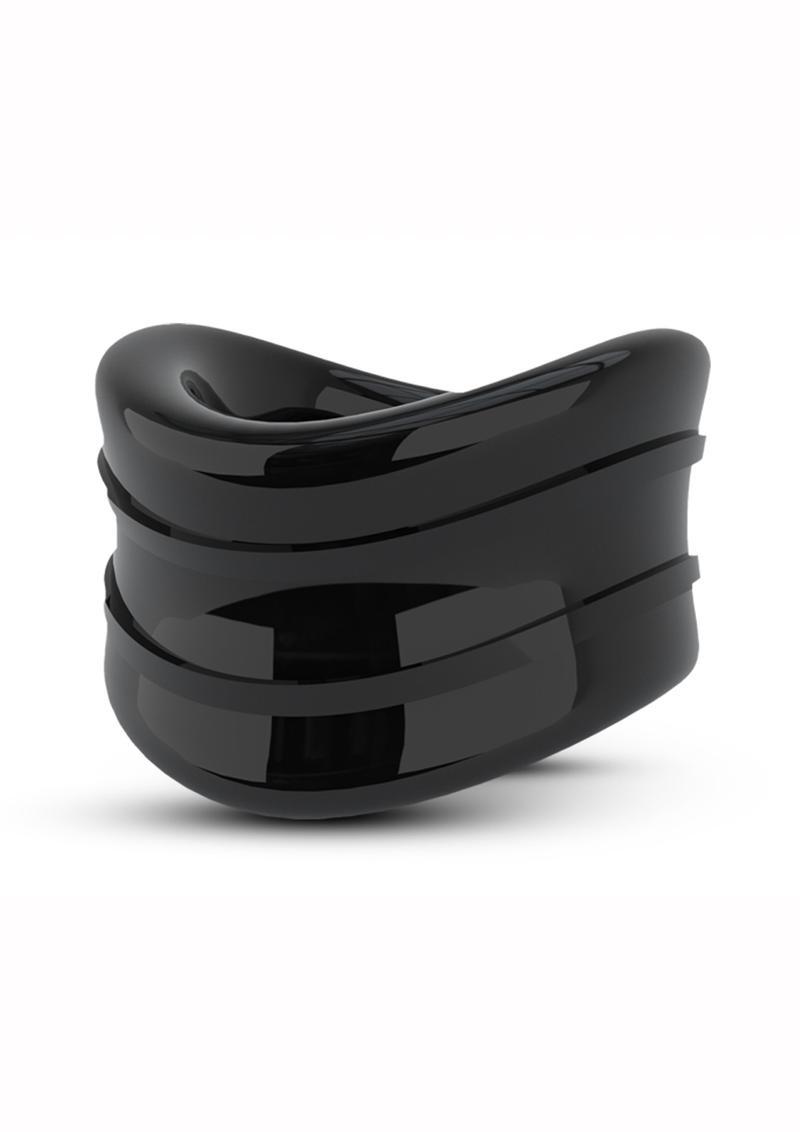 Stay Hard Beef Ball Stretcher Snug Cock Ring Black