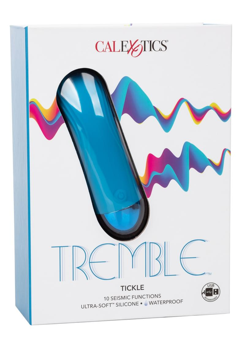 Tremble Tickler Silicone USB Rechargeable Flickering Massager Waterproof Blue 5 Inches