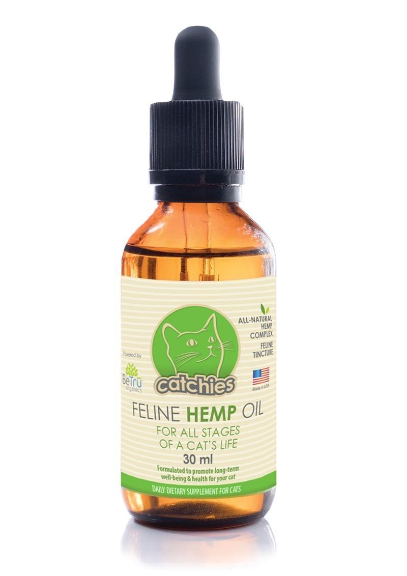 BeTru Wellness Catchies Feline Hemp Oil Tincture Catnip 30 Milliliters