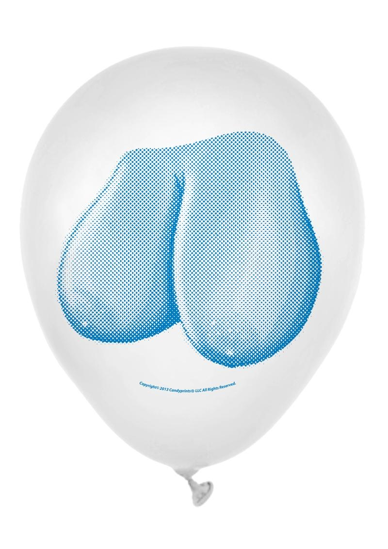 Candy Prints Dirty Balloon Mini Boob Style Latex 9 Inches 8 Each Per Bag