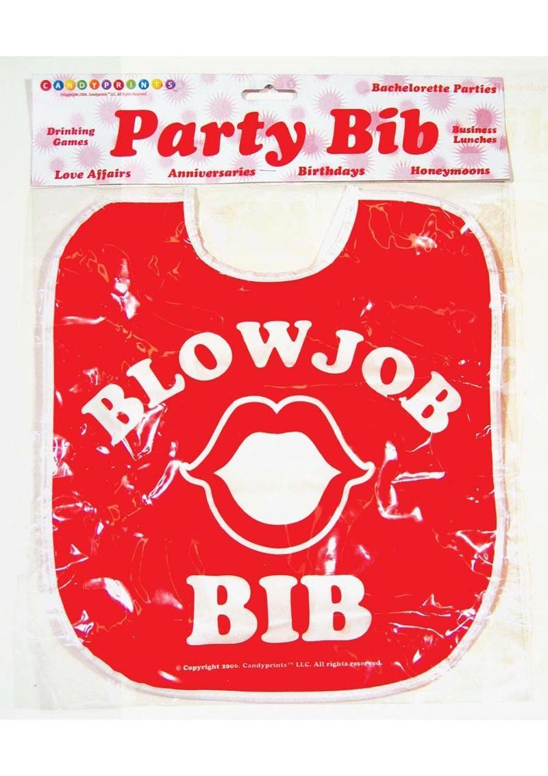 Candy Prints Blow Job Bib - Red