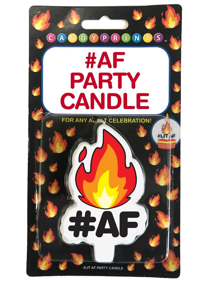 Candy Prints Lit AF Party Candle