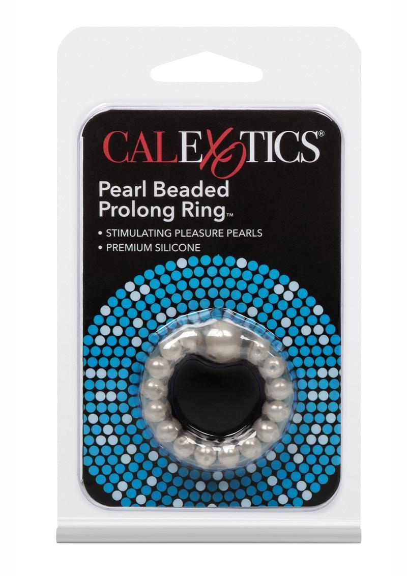 Pearl Beaded Prolong Cock Ring 1.5 inch Diameter Smoke
