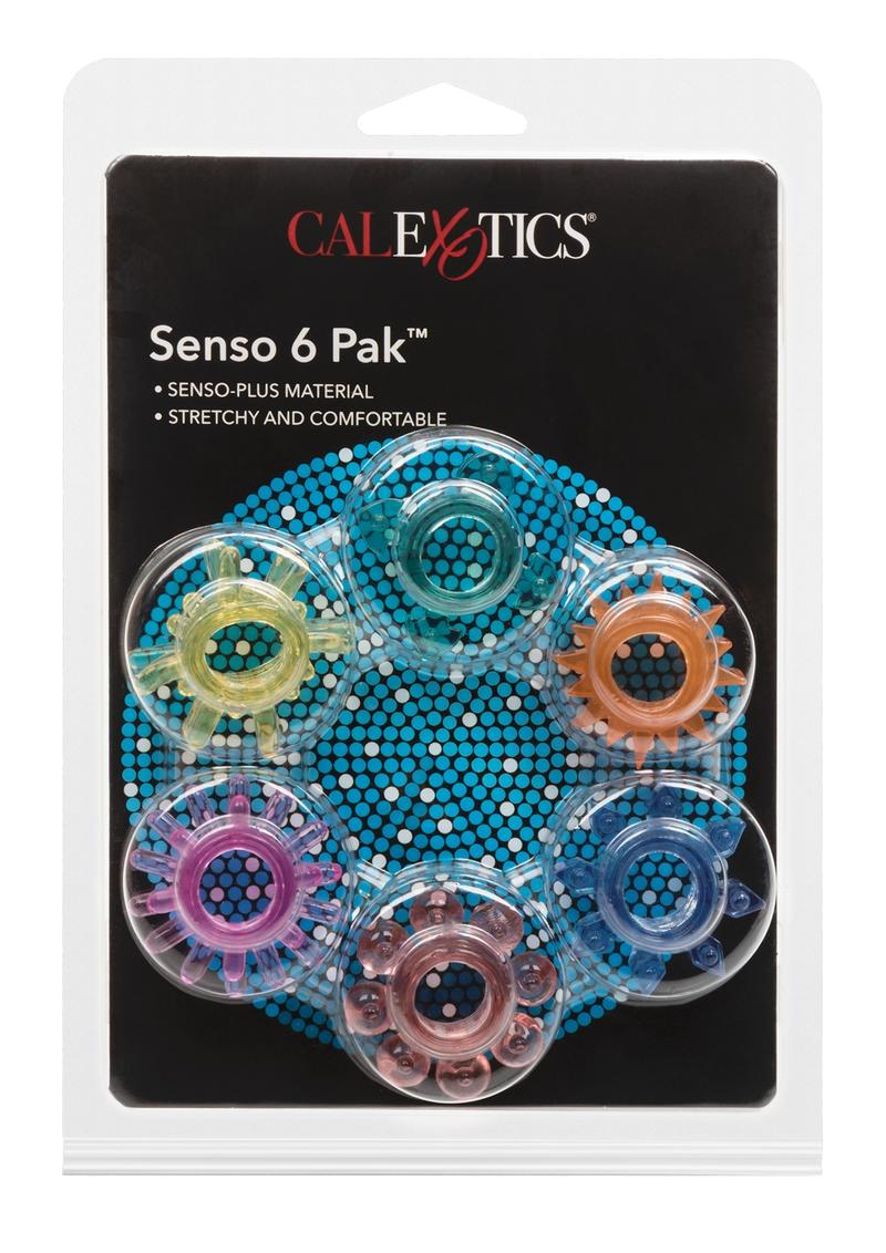 Senso 6 Pack Senso Plus Material Super Stretchy Enhancers Assorte Shapes And Colors