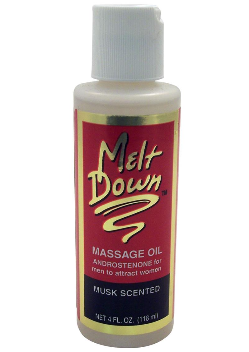 Meltdown Sensuous Massage Oil For Men Musk 4oz