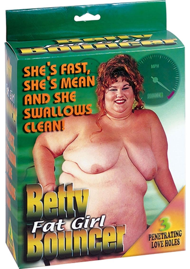 Betty Fat Girl Bouncer Doll - Vanilla
