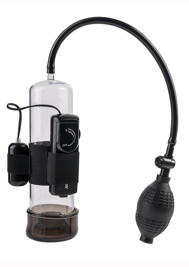Classix Vibrating Power Penis Pump - Clear And Black