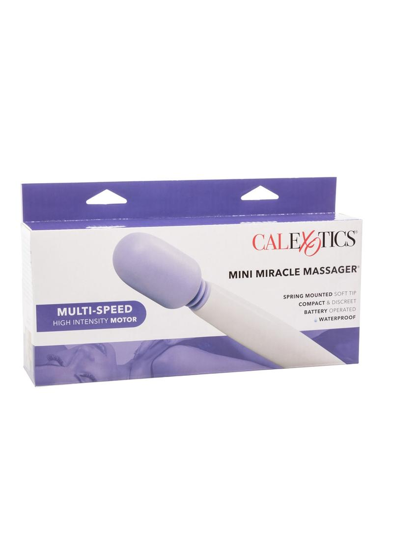 My Mini Miracle Massager Wand Waterproof 7.75 Inch White With Purple