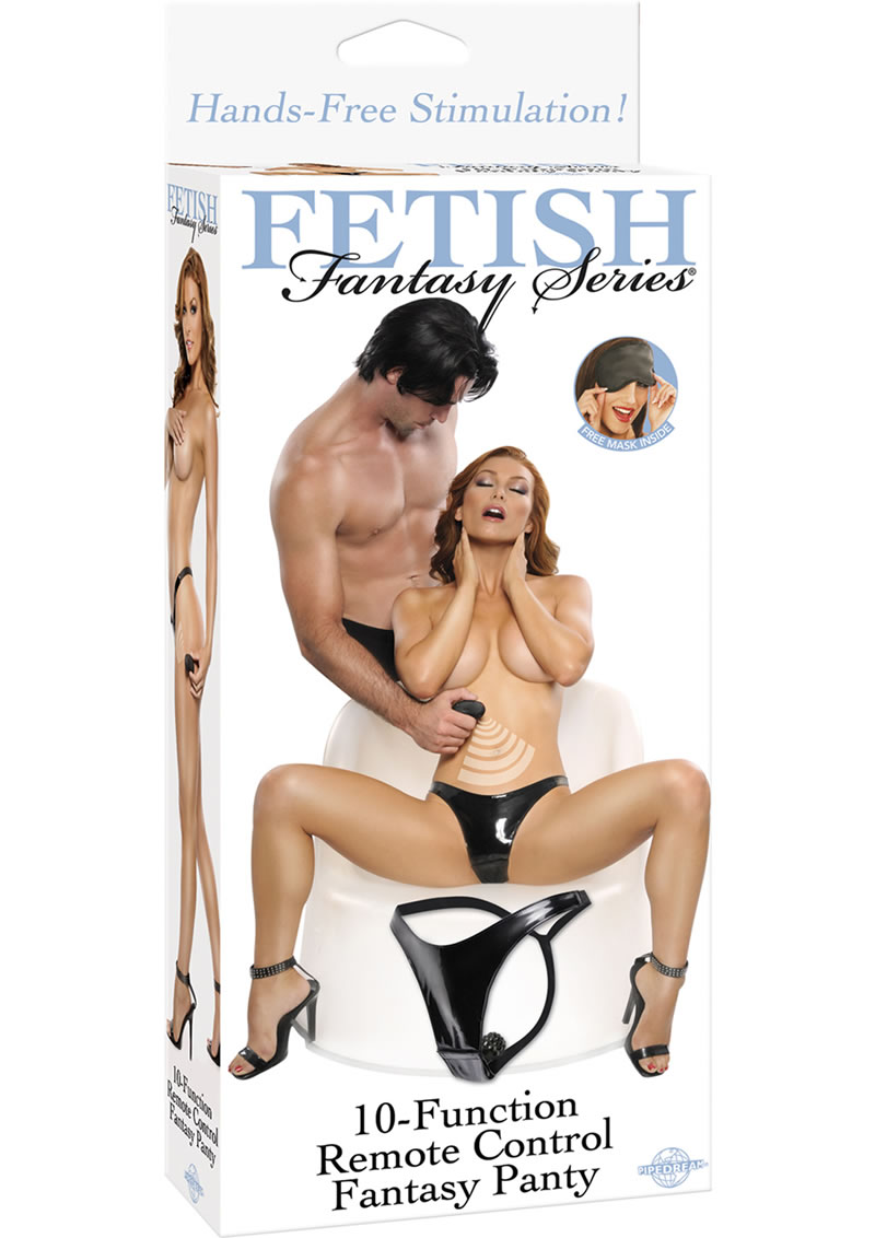 Fetish Fantasy Series 10 Function Remote Control Fantasy Panty Waterproof Black