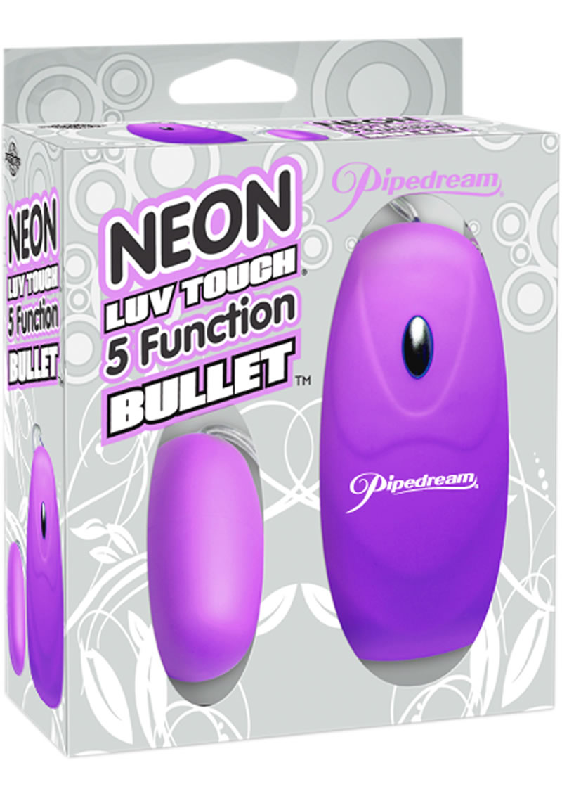 Neon Luv Touch Bullet Vibe With Remote Control - Purple