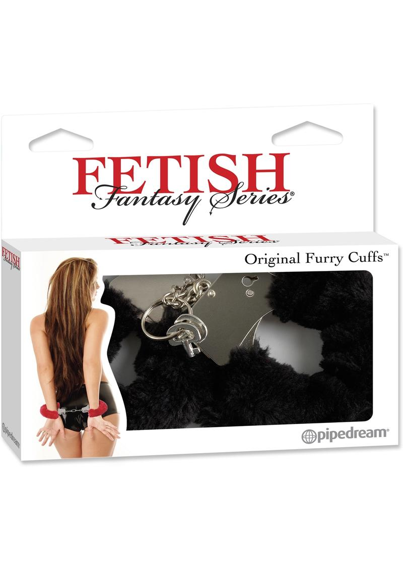 Fetish Fantasy Series Furry Cuffs Black