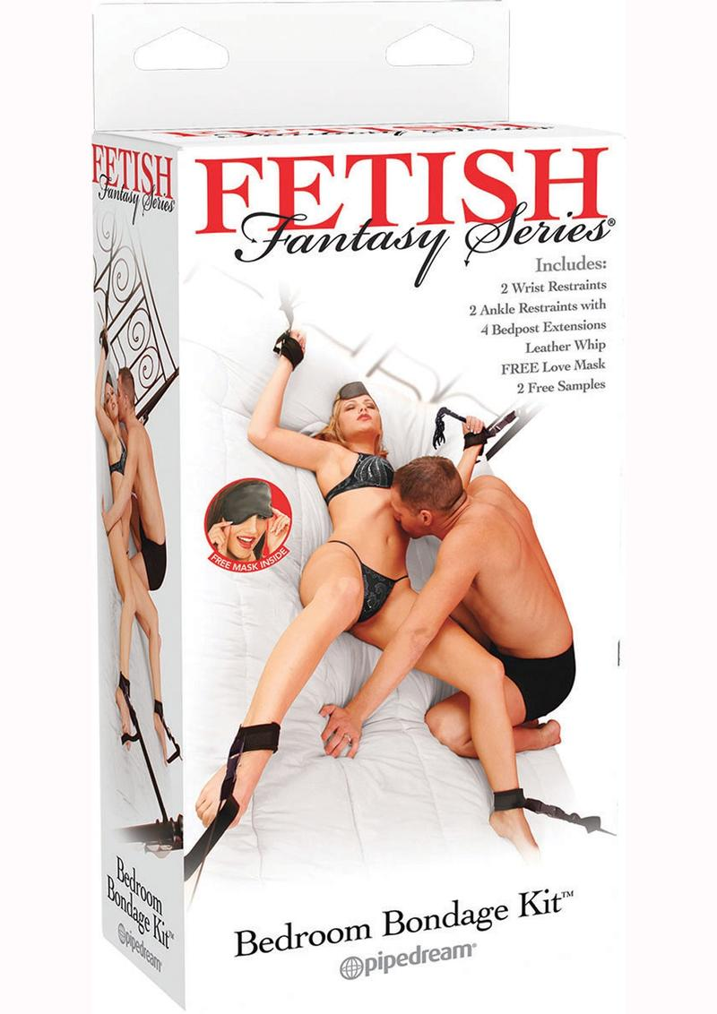 Fetish Fantasy Series Bedroom Bondage (5 Piece Kit) - Black