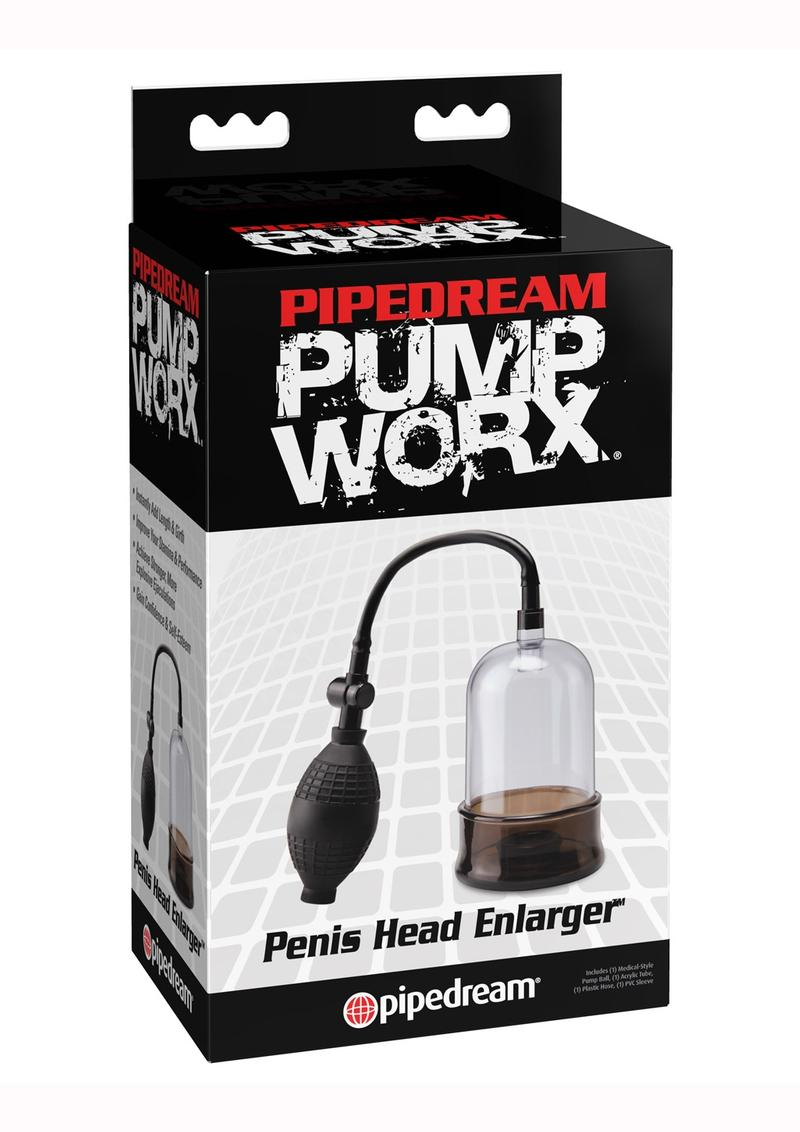 Pump Worx Penis Head Enlarger - Clear And Black