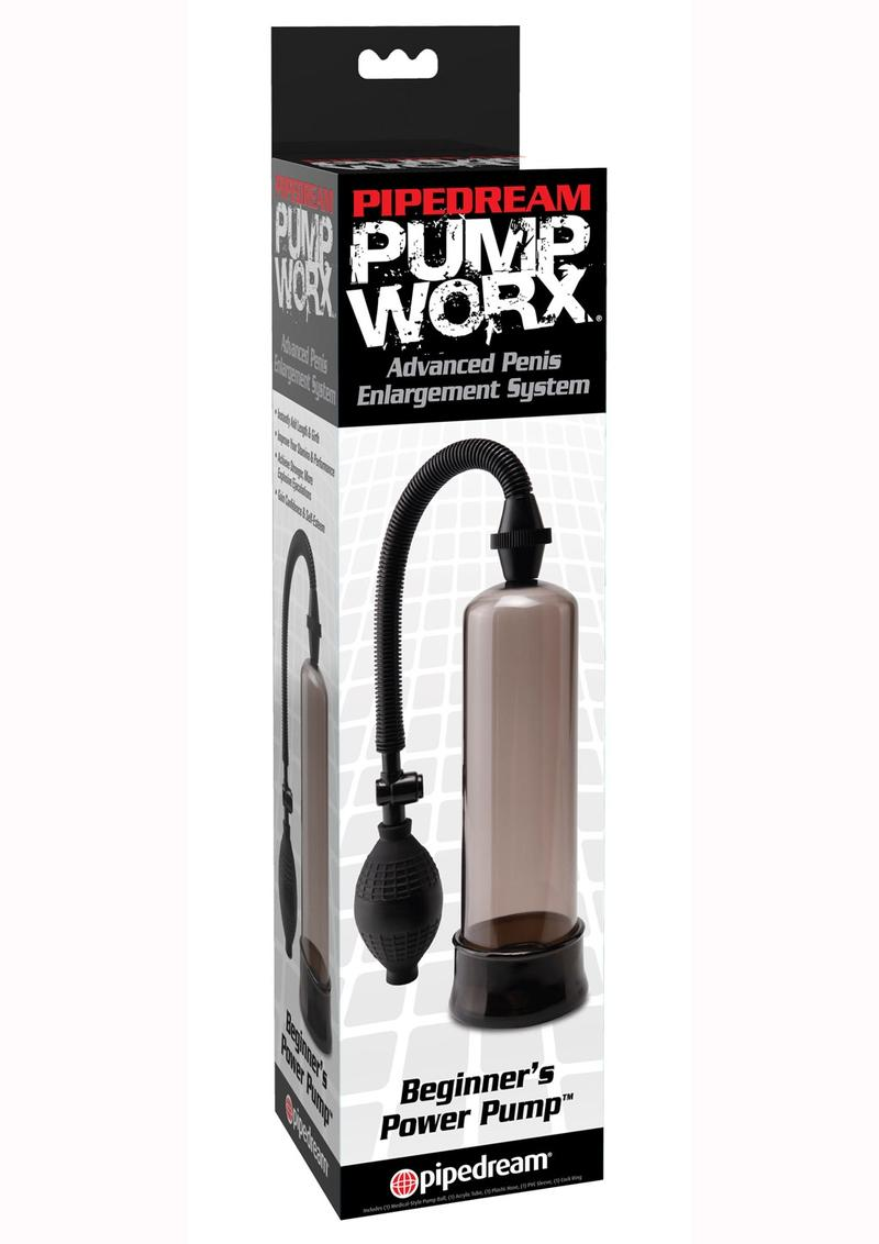 Pump Worx Beginner`s Power Pump Advanced Penis Enlargement System - Smoke And Black