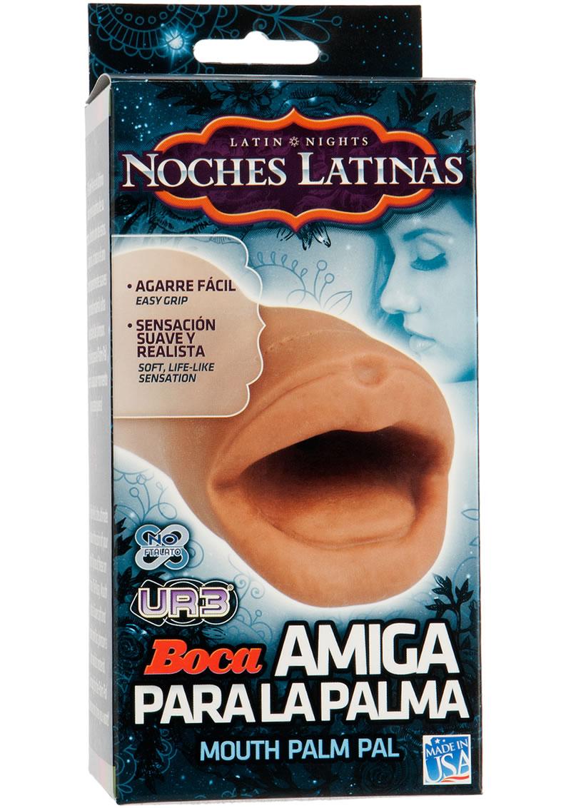 Noches Latinas Boca Amiga Para La Palma Ultraskyn Masturbator - Mouth - Caramel