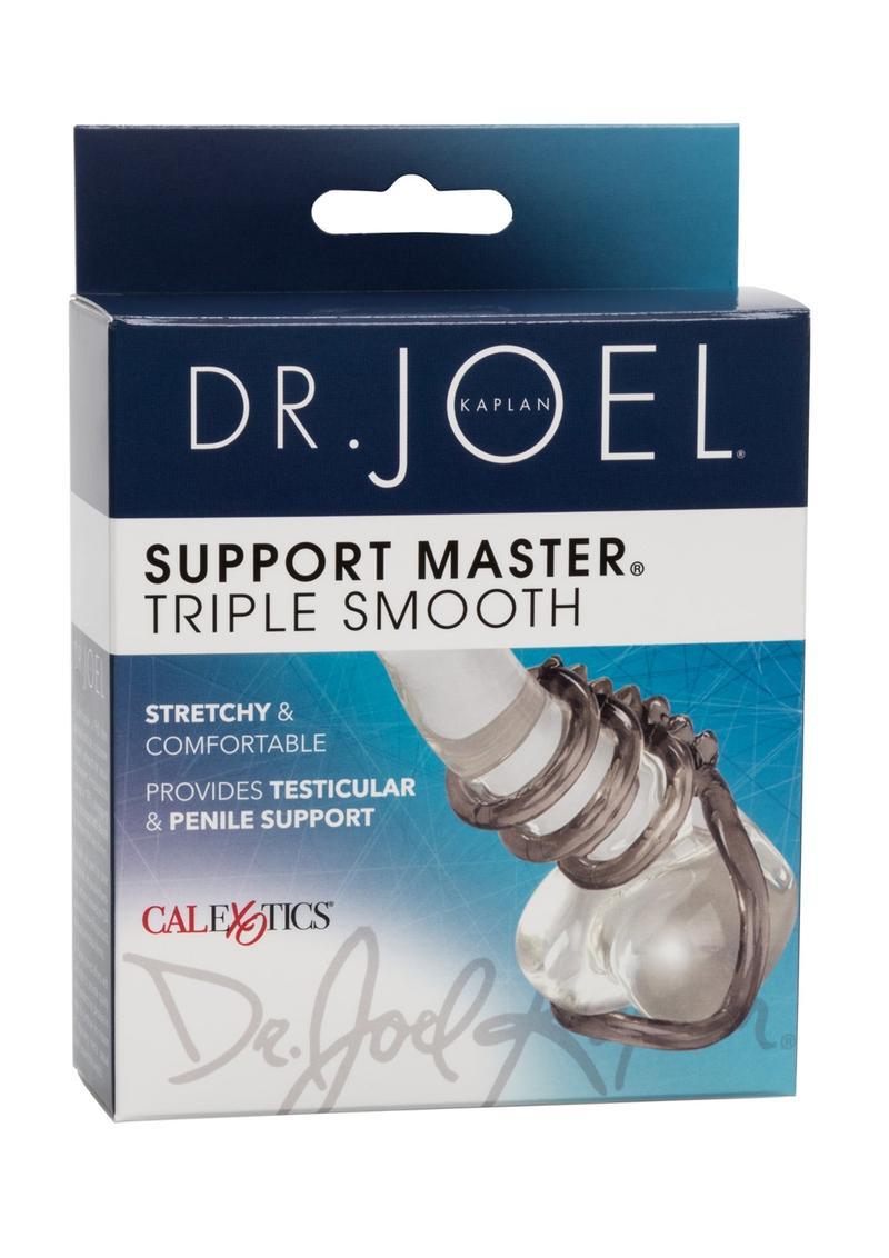 Dr. Joel Kaplan Support Master Triple Smooth Cock Ring - Smoke