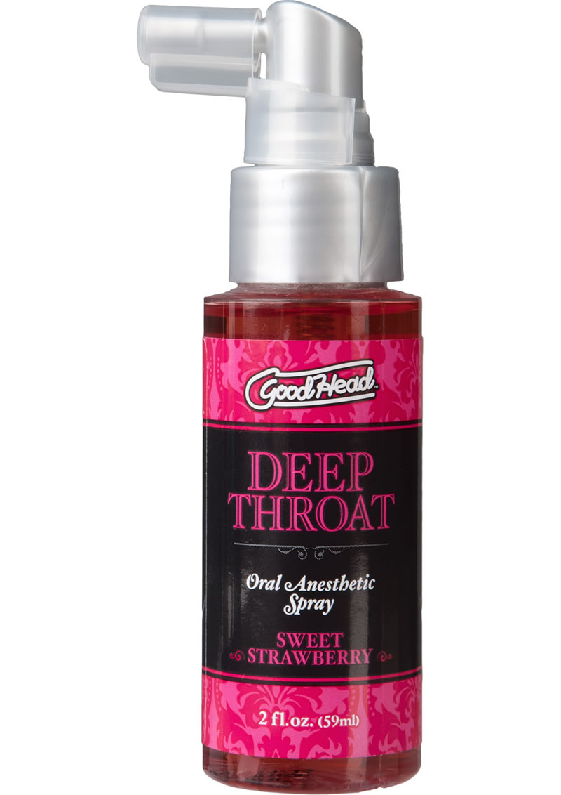 Goodhead Deep Throat Oral Anesthetic Spray Sweet Strawberry 2oz