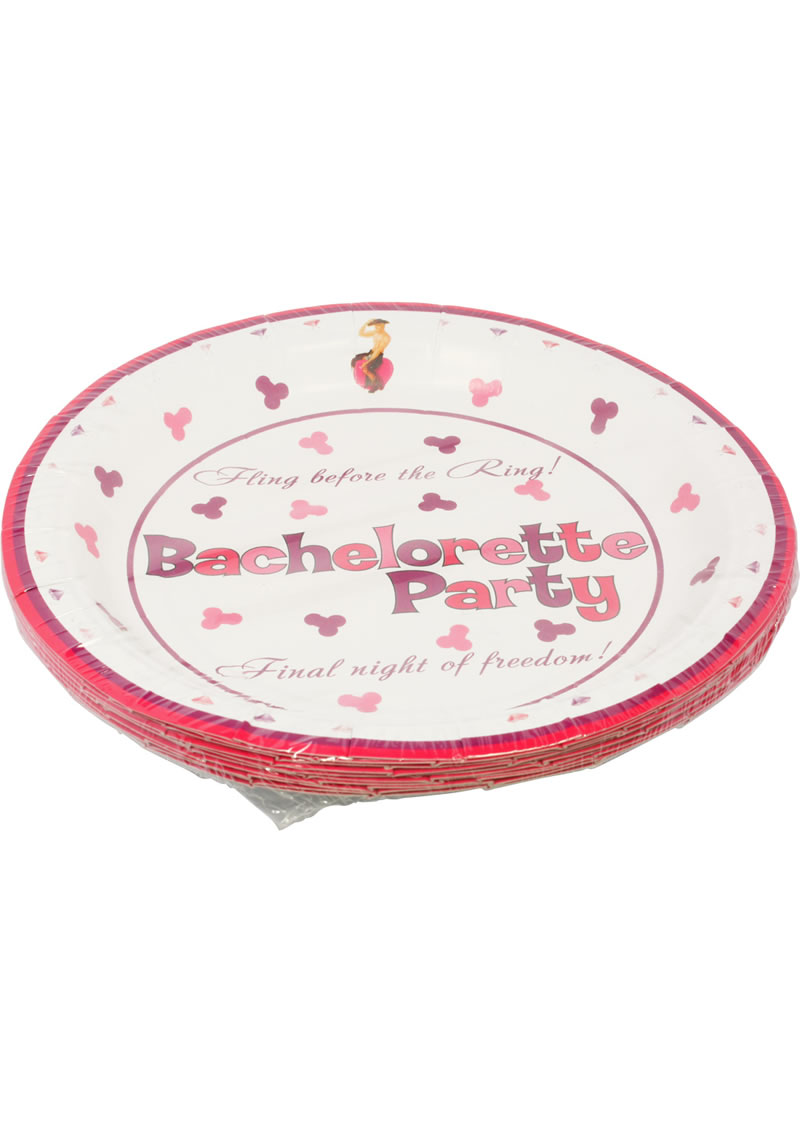 Bachelorette Party 7 Inch Plates 10 Per Pack