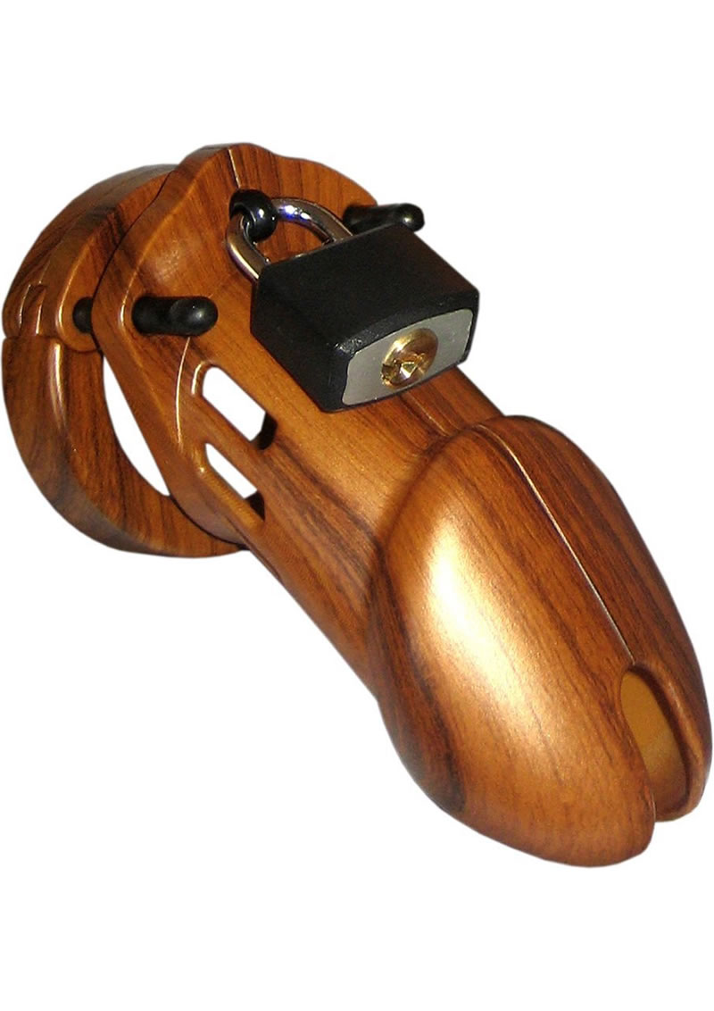 CB-6000 Designer Collection Male Chastity Device - Wood