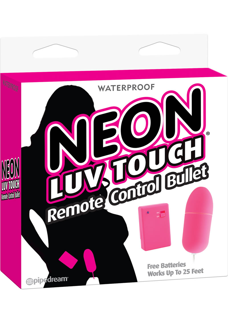 Neon Luv Touch Bullet With Remote Control - Pink