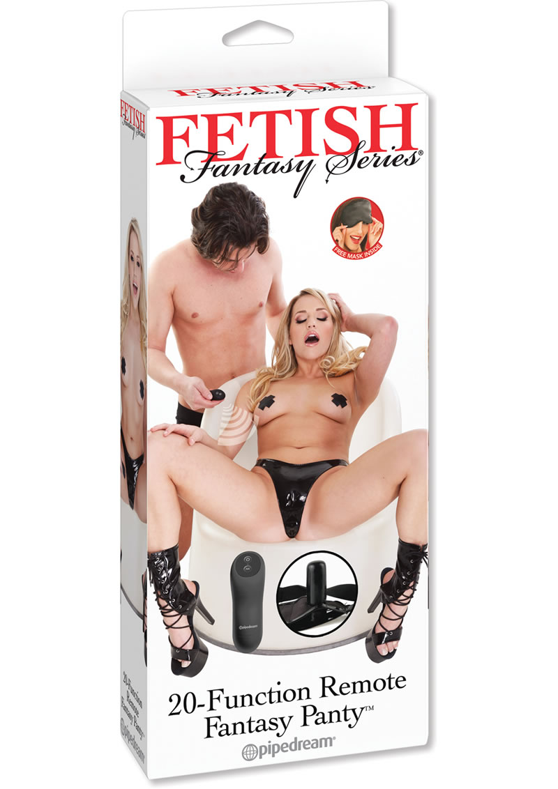 Fetish Fantasy Series 20 Function Wireless Remote Control Fantasy Panty Black