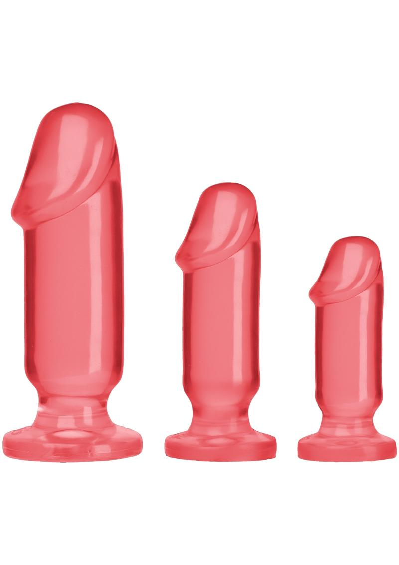 Crystal Jellies Anal Starter (3 Piece Kit) - Pink