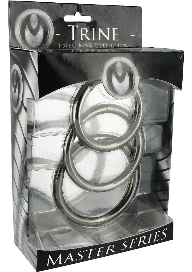 Master Series Trine Steel C-Ring Collection - Silver