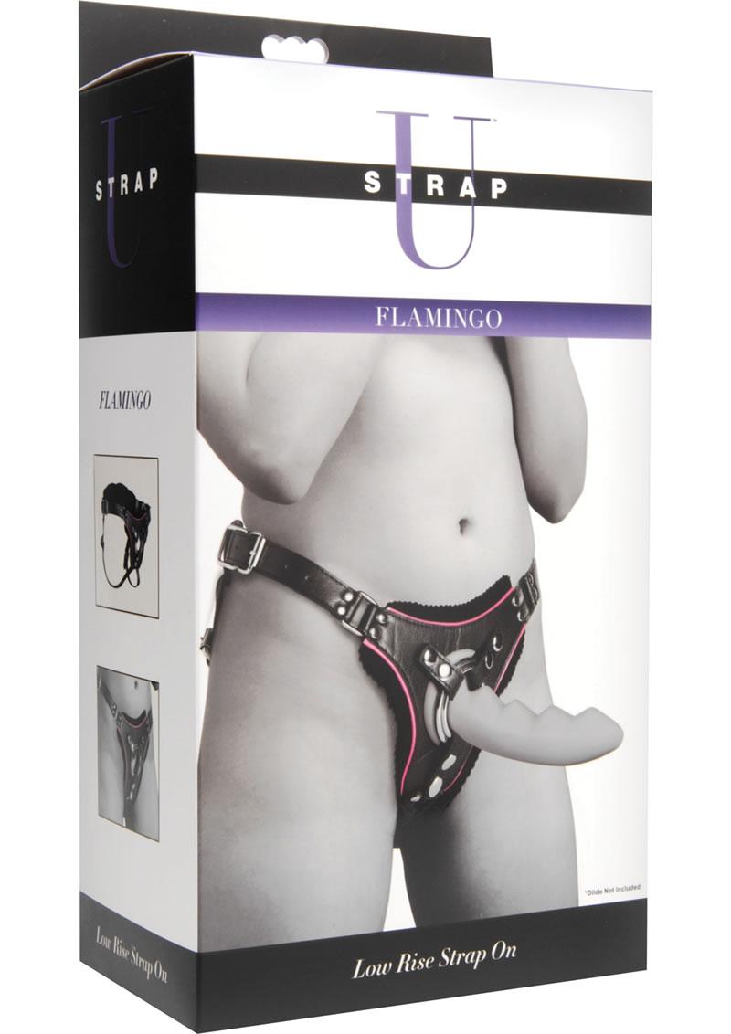 Strap U Flamingo Low Rise Strap On - Black