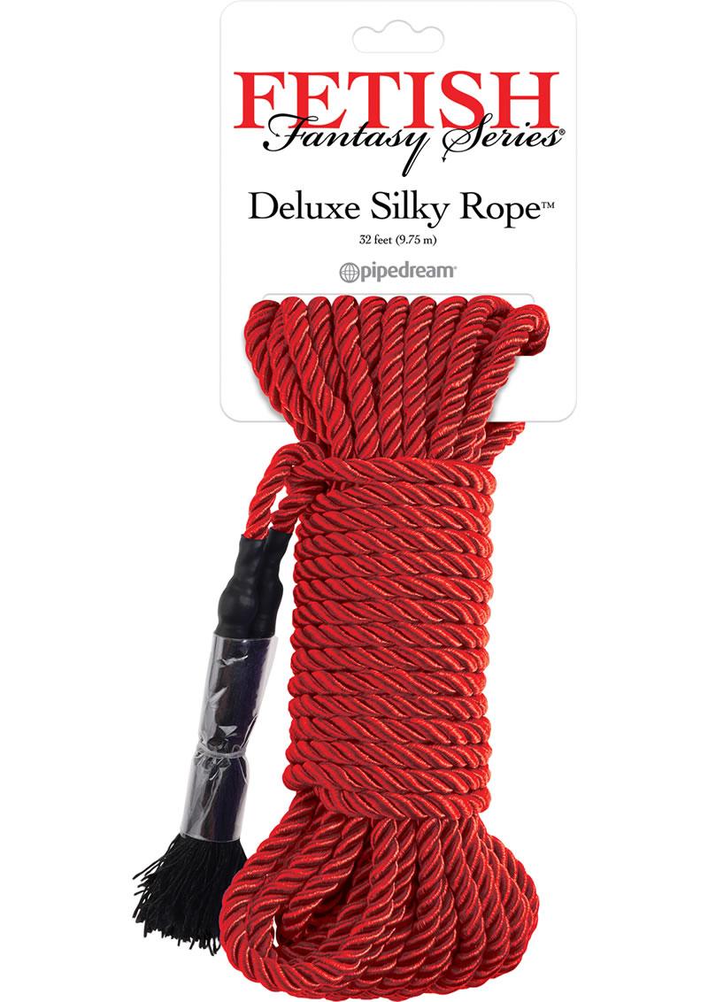 Festish Fantasy Series Deluxe Silk Rope Red 32 Feet