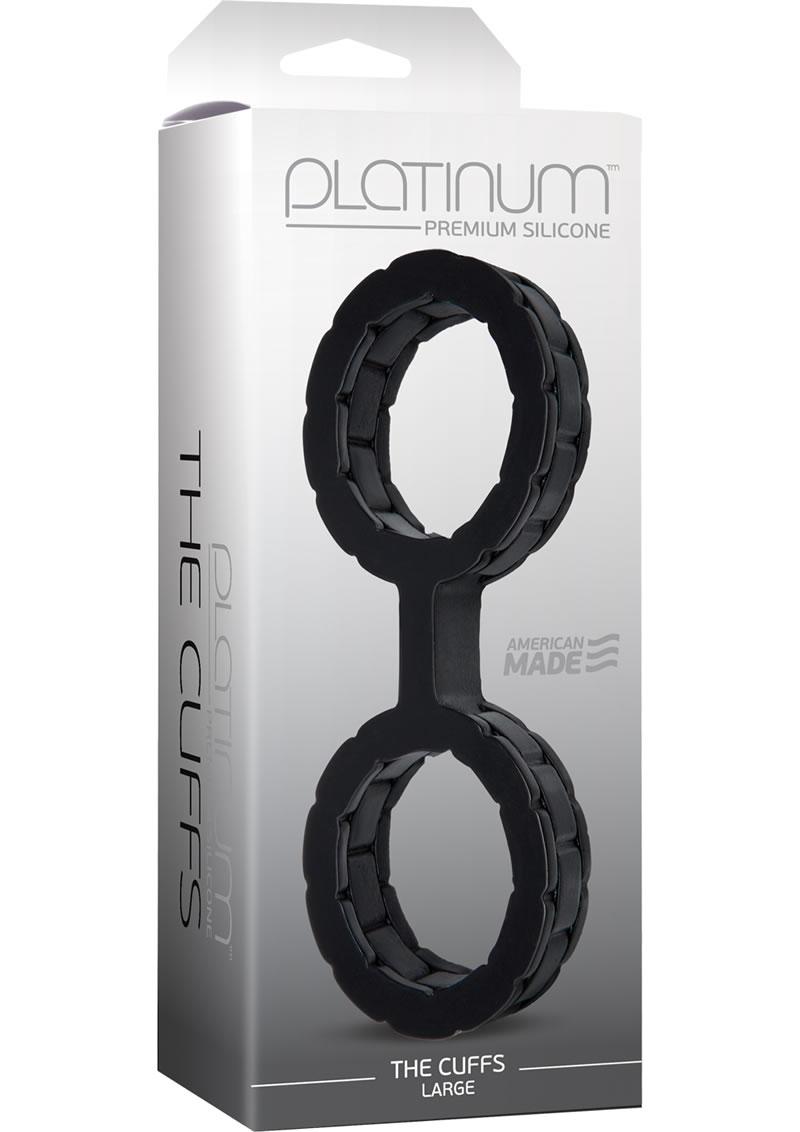 Platinum Premium Silicone The Cuffs - Large - Black