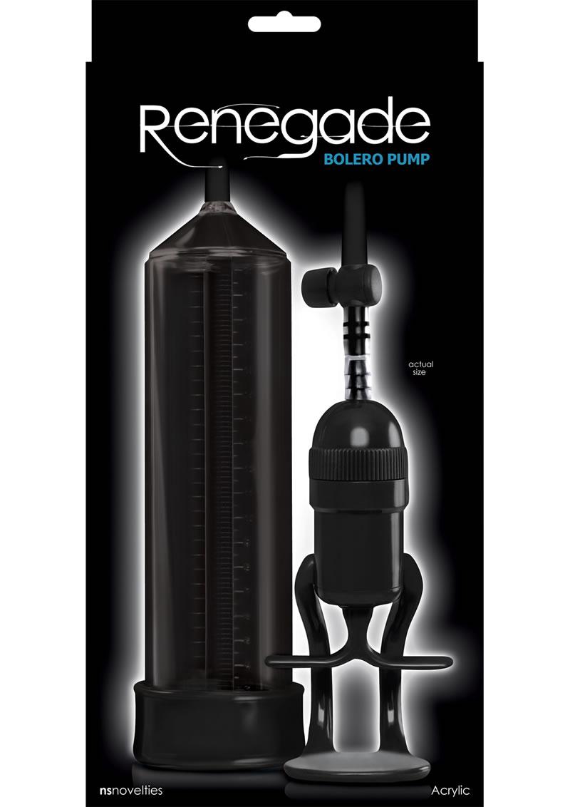 Renegade Bolero Penis Pump - Black