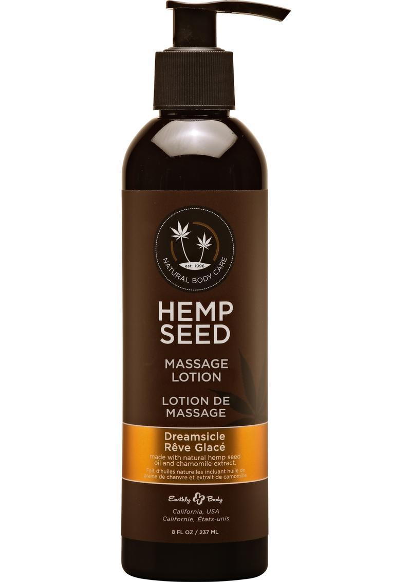 Earthly Body Hemp Seed Massage Lotion Dreamsicle 8oz