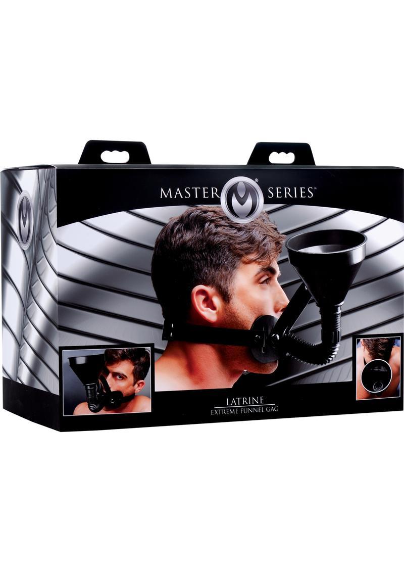 Master Series Latrine Extreme Funnel Gag - Black