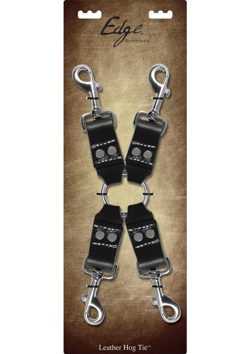 Edge Leather 4 Point Hog Tie - Black