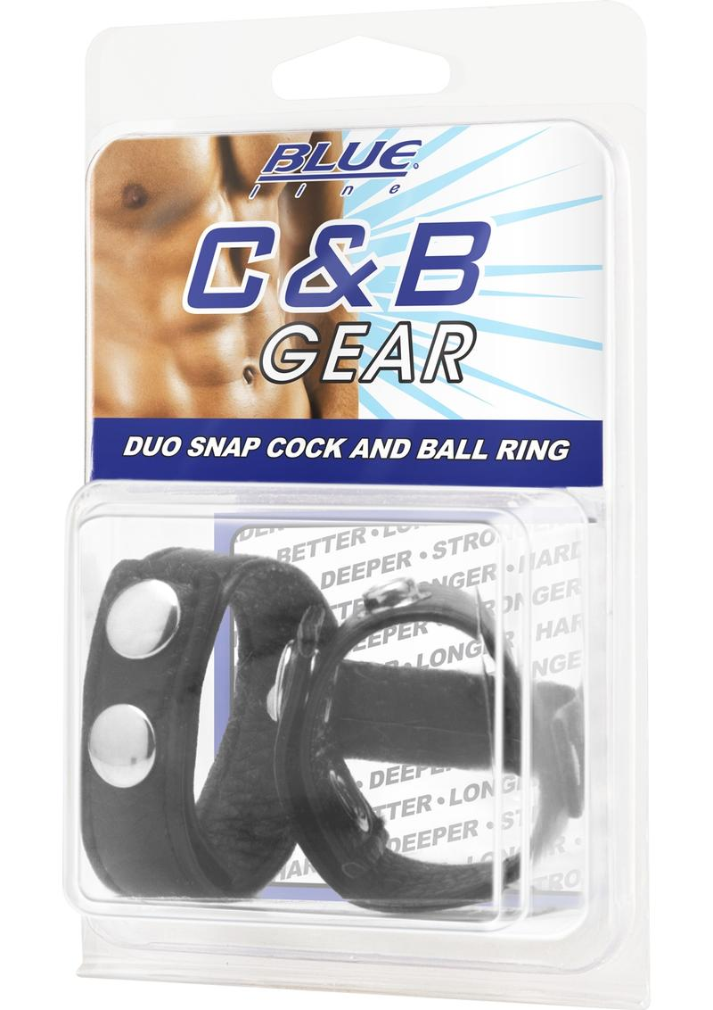 CandB Gear Duo Cock And Ball Ring Adjustable Cock Ring Black