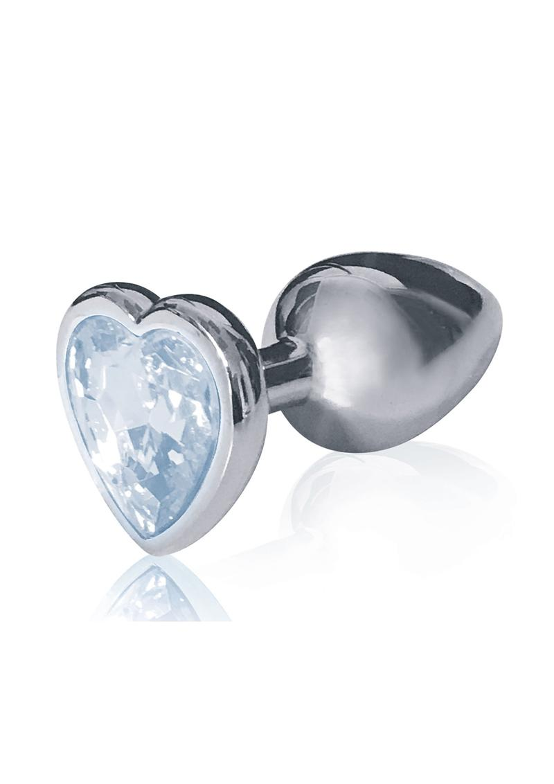 The 9`s - The Silver Starter Bejeweled Heart Stainless Steel Plug - Diamond