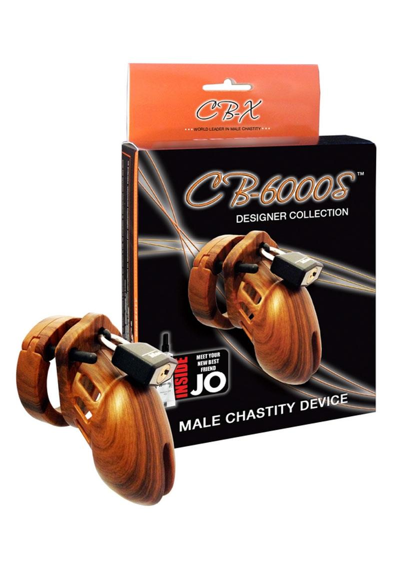 CB-6000S Designer Collection Male Chasitity Device With Lock - Wood