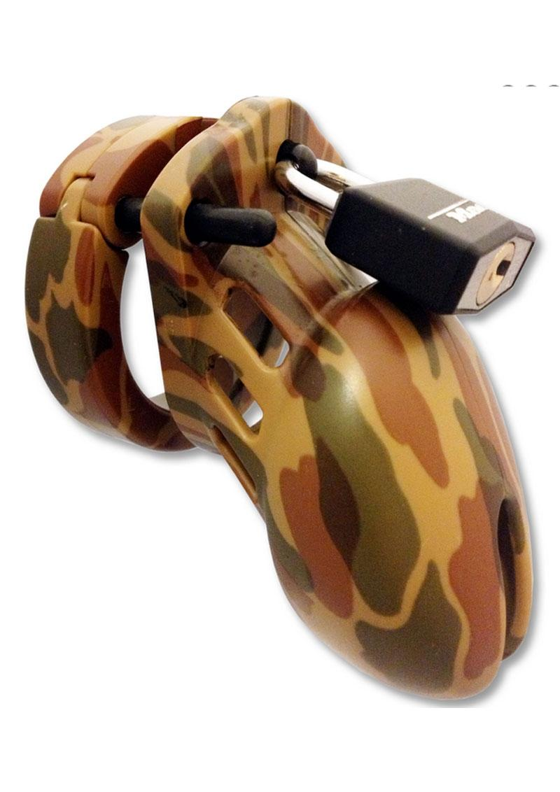 CB-6000S Designer Collection Male Chasitity Device With Lock - Camoflage