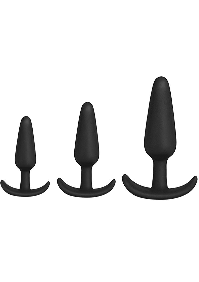 Mood Naughty 1 Trainer Silicone Anal Plug (3 Piece Set) - Black