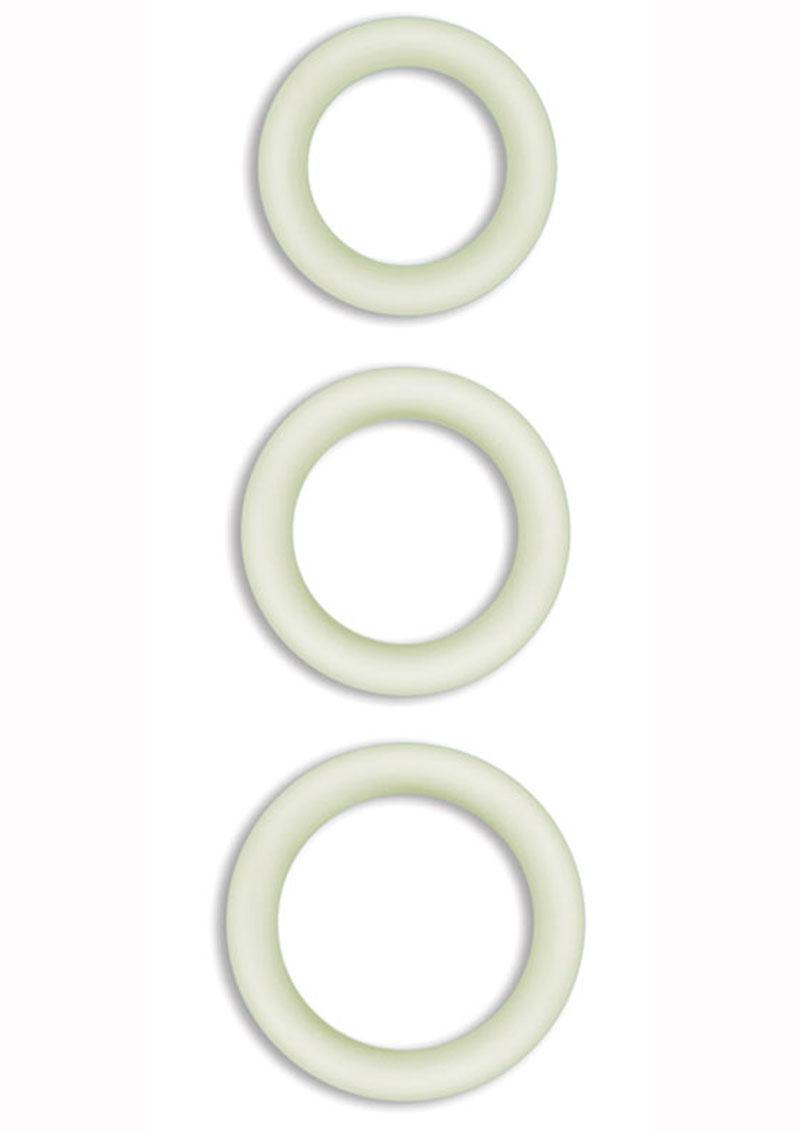 Firefly Halo Small Silicone Cock Ring Glow In The Dark - Clear