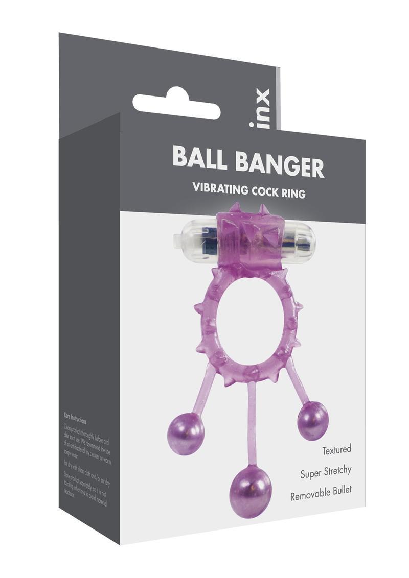 Linx Ball Banger Vibrating Cock Ring - Purple