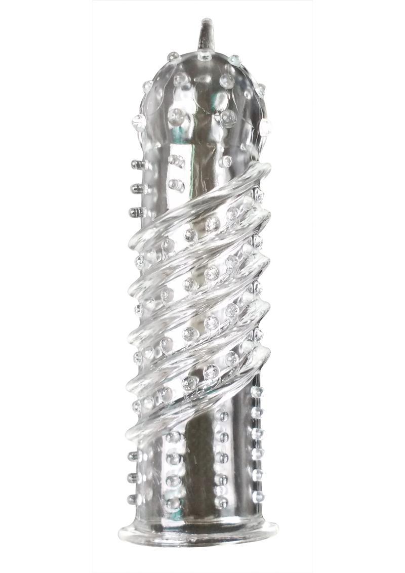 Kinx Orgasma Textured Penis or Vibrator Sleeve - Clear