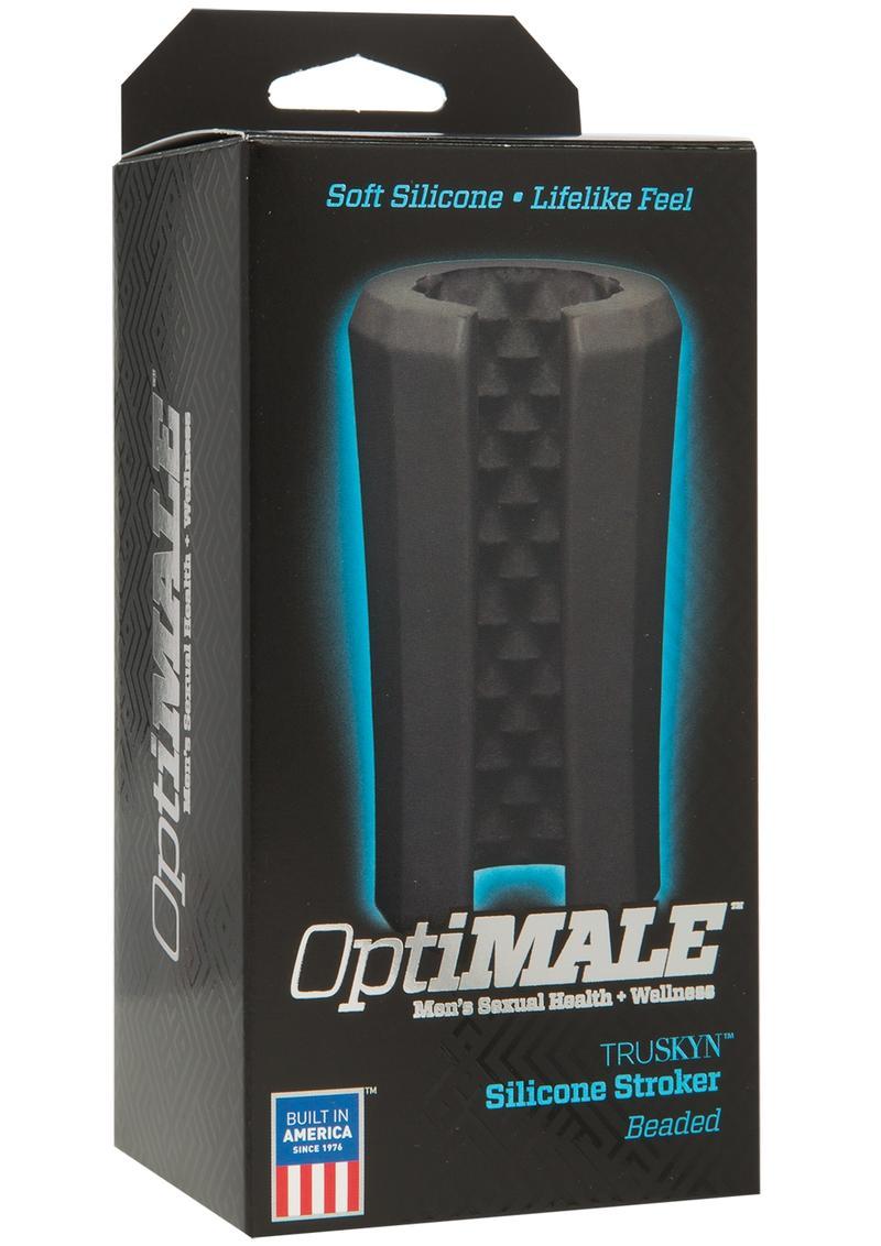 OptiMale Beaded Truskyn Silicone Masturbator - Black