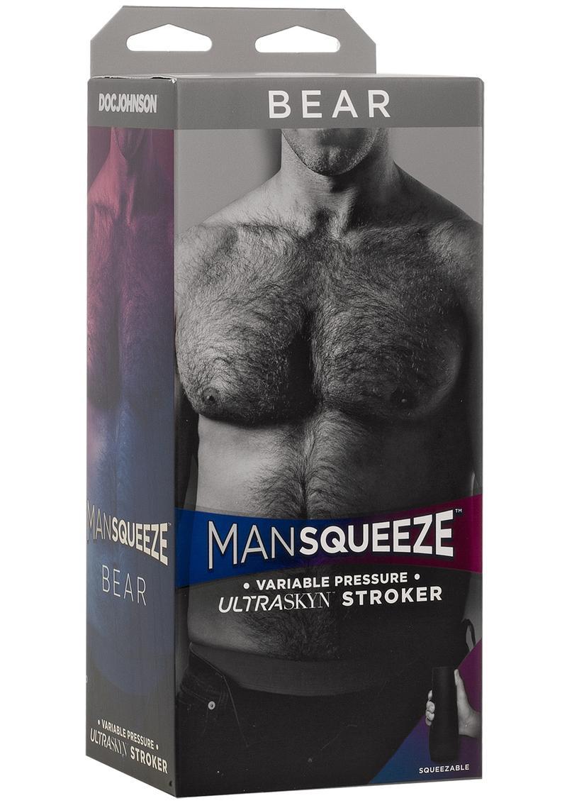 Man Squeeze Bear Ultraskyn Masturbator - Butt - Vanilla