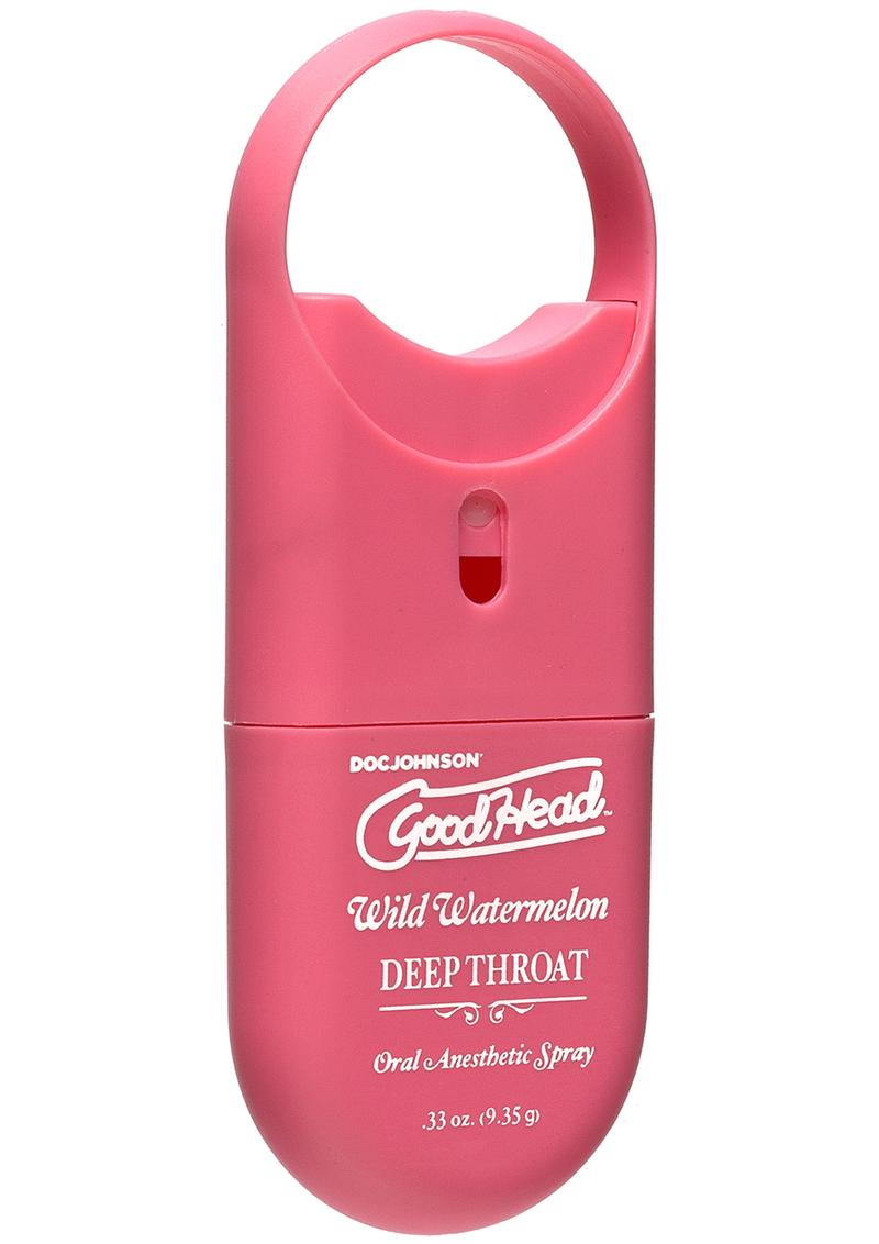 Goodhead Deep Throat To Go-Oral Anesthetic Spray Wild Watermelon .33oz